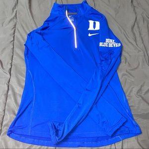 Women's Nike Blue Duke Dri-Fit 1/4 Zip